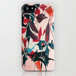 The Mystery- Dark Floral Mixed Media Decoupage  iPhone Case