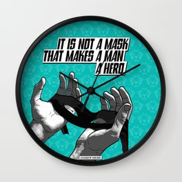 Do you have what it takes to be a hero? Wall Clock