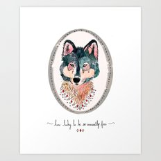 how lucky to be so unusually free Art Print