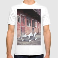 610 Barn #2 MEDIUM White Mens Fitted Tee