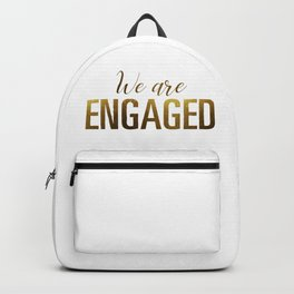 We are engaged (gold) Backpack