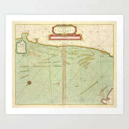 A description of the coast FLANDERS from the Island Walcheren to Calice Art Print