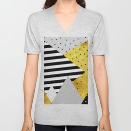 fall abstraction #4 Unisex V-Neck