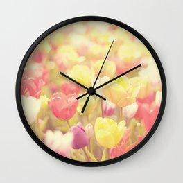 life isn't a tiptoe through the tulips ... Wall Clock