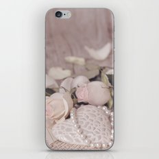 Soft Pink Nostalgic Rose and Heart Still iPhone & iPod Skin