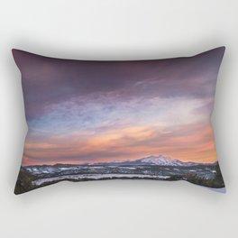Mt. Sopris sunset Rectangular Pillow