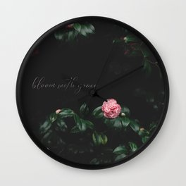 bloom with grace Wall Clock