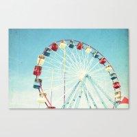 ferris wheel Canvas Prints featuring Ferris Wheel by Mina Teslaru