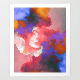Colorful clouds in the sky II Art Print