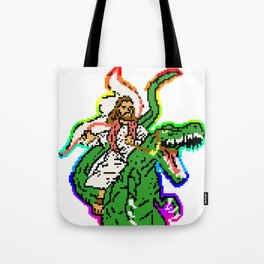 EVEN THOUGH WE KNOW DINOSAURS SURVIVED THE FLOOD (ON NOAH'S ARK) Tote Bag
