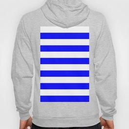 Horizontal Stripes - White and Blue Hoody