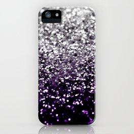 Dark Night Purple Black Silver Glitter #1 #shiny #decor #art #society6 iPhone Case