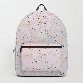 Abstract artsy black gold watercolor confetti Backpack