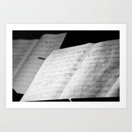 Jazz Notes Art Print