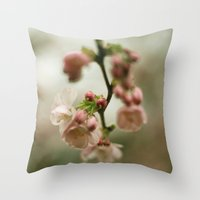 blossom Throw Pillows featuring blossom by EnglishRose23