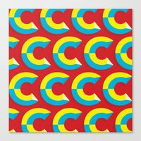 cs lewis Canvas Prints featuring Many Cs by Matt Hunsberger