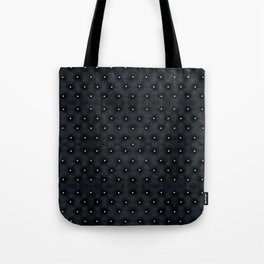 Black Velvet and Diamond Quilted Pattern Tote Bag