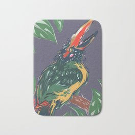 Green Aracari Bath Mat