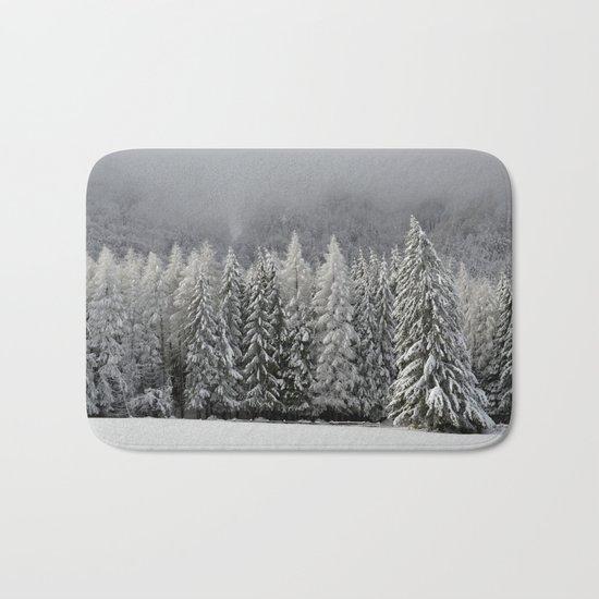 Snowy Landscape Bath Mat