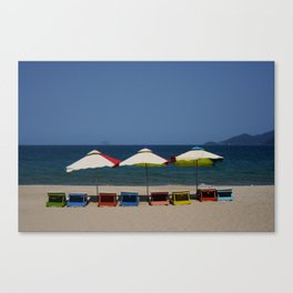 Beach Umbrellas in Nha Trang Canvas Print