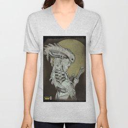Xenomorph Samurai Unisex V-Neck