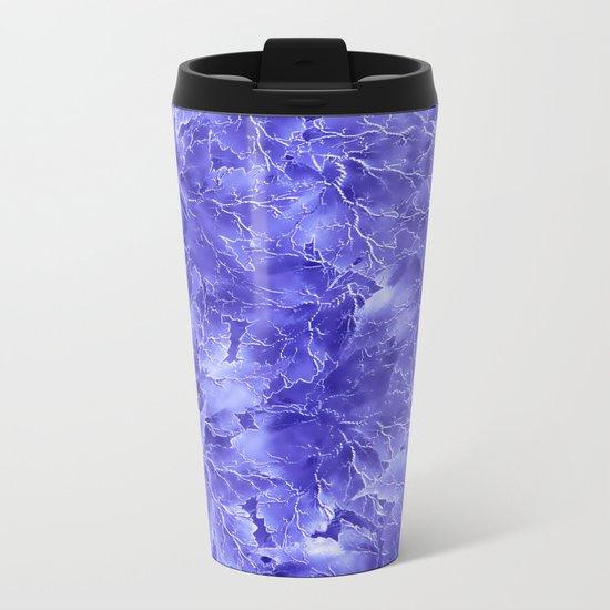Frozen Leaves 19 Metal Travel Mug