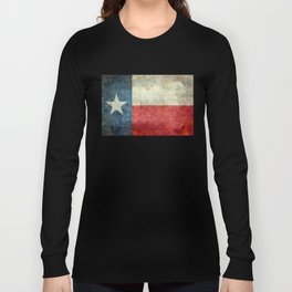 Texas flag, Retro distressed texture Long Sleeve T-shirt