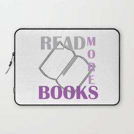 READ MORE BOOKS in purple Laptop Sleeve