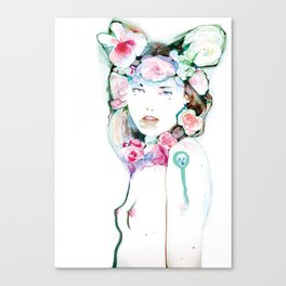 Blossoming whispers Canvas Print