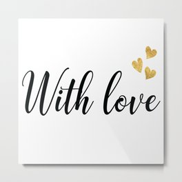 Romantic lettering with love Metal Print