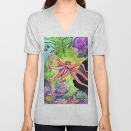 Journey Under the Sea Part 2 by Maureen Donovan Unisex V-Neck