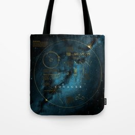 Infographic Variant - Voyager and the Golden Record - Space   Science   Sagan Tote Bag