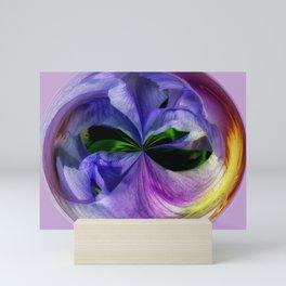Purple Iris Orb Mini Art Print