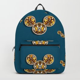 Cartoon animals in gold and silver gift decorations Backpack