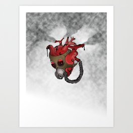 Gaurded Heart Art Print