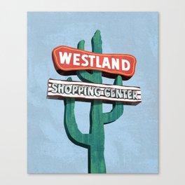 Westland Shopping Center Canvas Print