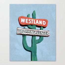 Westland Shopping Center Canvas Print