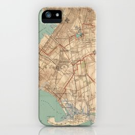 Vintage Map of Jamaica Bay and Brooklyn NY (1891) iPhone Case