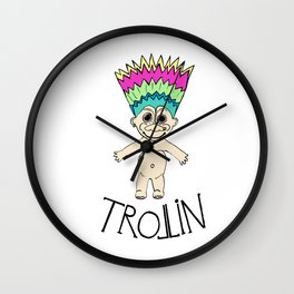 Trollin Wall Clock