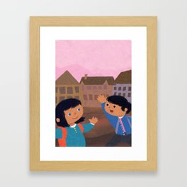 First Day of School Framed Art Print