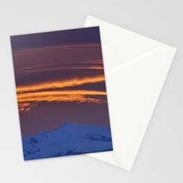 """Sunrise at the mountains"" Stationery Cards"