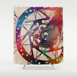 Cycling #cycling #sport Shower Curtain
