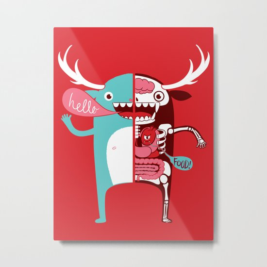 All monsters are the same! Metal Print