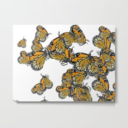 Butterfly Frenzie, Monarch Migration Metal Print