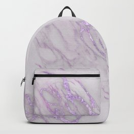 Marble Love Purple Metallic Backpack