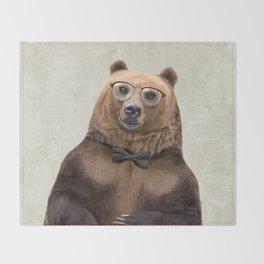 Mr Bear Throw Blanket