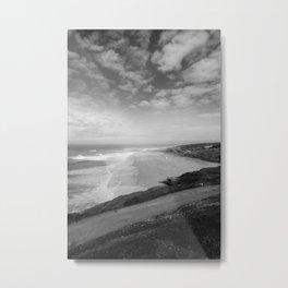 Praia do Norte BW Metal Print