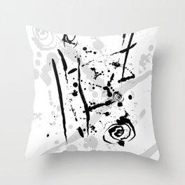 Minimalist Modern Abstract Ink Splatter Throw Pillow