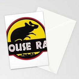 mouse rat logo jurasic parody Stationery Cards