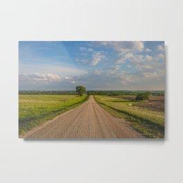 Country Road, North Dakota 1 Metal Print